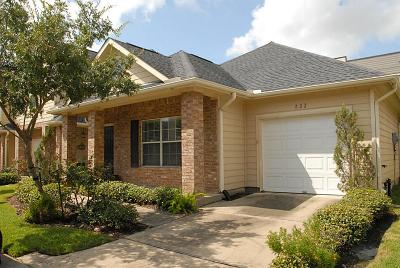 Katy Condo/Townhouse For Sale: 822 Sterling Creek Circle
