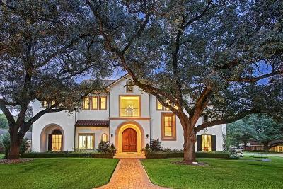 Houston TX Single Family Home For Sale: $2,200,000
