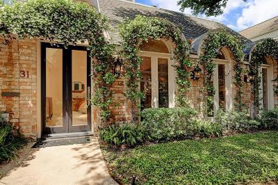 Houston Condo/Townhouse For Sale: 31 River Hollow Lane