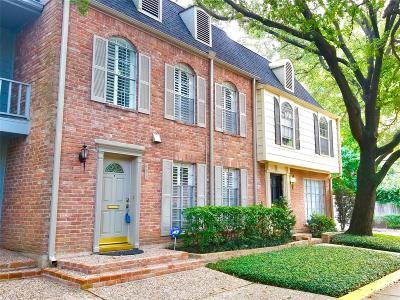 Houston Condo/Townhouse For Sale: 493 N Post Oak Lane #493