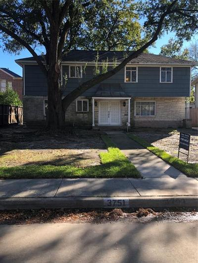 Houston Single Family Home For Sale: 3751 Bellefontaine Street