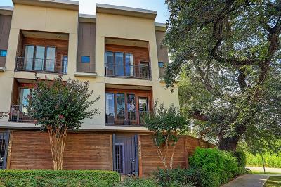 Houston Condo/Townhouse For Sale: 1545 Birdsall Street #E