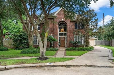 Sugar Land Single Family Home For Sale: 1806 Pebble Hill Court