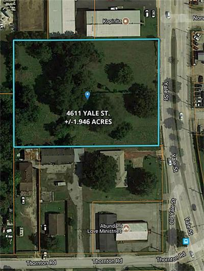 Houston Residential Lots & Land For Sale: 4611 Yale