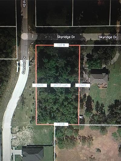 Conroe Residential Lots & Land For Sale: Skyridge Drive