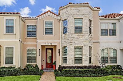 Houston Condo/Townhouse For Sale: 13427 Preston Cliff Court