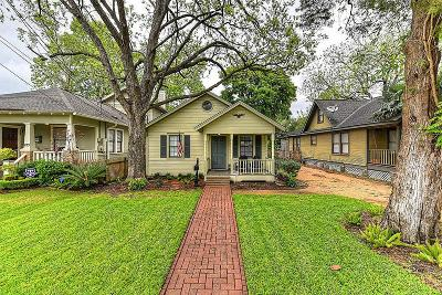 Houston Single Family Home For Sale: 209 1/2 E Woodland Street
