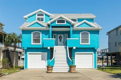 Tiki Island Single Family Home For Sale: 410 Sunset Circle