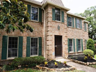 Houston Single Family Home For Sale: 15730 Walkwood Drive