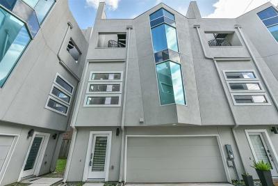 Houston Condo/Townhouse For Sale: 604 Jackson Hill Street #B