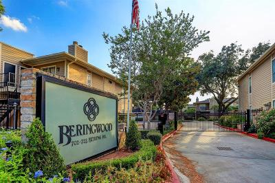 Houston Condo/Townhouse For Sale: 708 Bering Drive #D