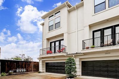Houston Condo/Townhouse For Sale: 2503 Garrow Street