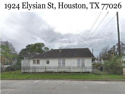 Houston Single Family Home For Sale: 1924 Elysian Street