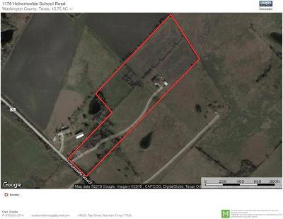 Washington County Farm & Ranch For Sale: 1179 Hohenwalde School Road
