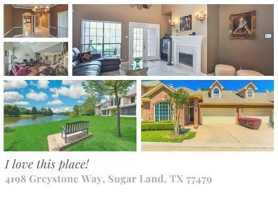Sugar Land Condo/Townhouse For Sale: 4198 Greystone Way