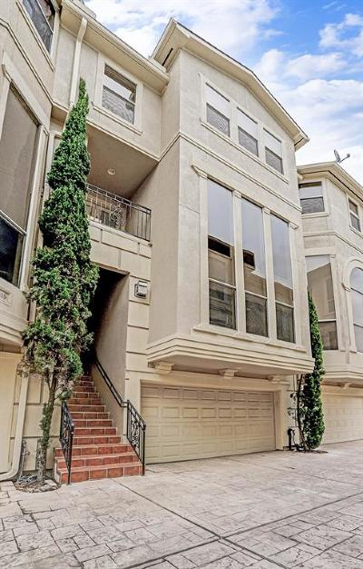 Houston Condo/Townhouse For Sale: 6417 Westcott Street