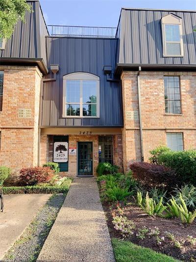 Houston Condo/Townhouse For Sale: 2425 Underwood Street #354