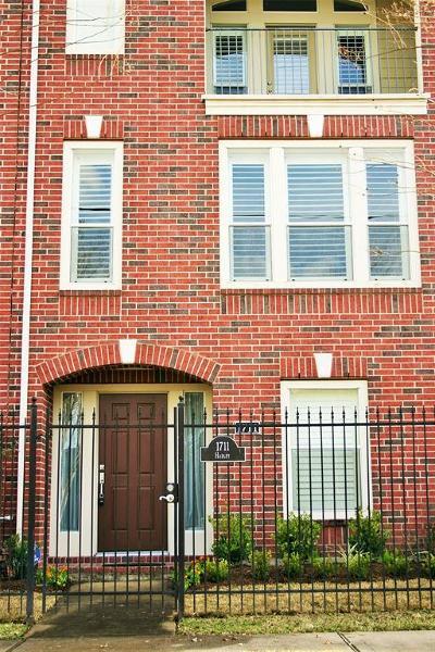 Houston Condo/Townhouse For Sale: 1711 Hadley Street