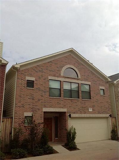 Houston Condo/Townhouse For Sale: 3722 Main Plaza Drive
