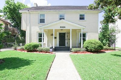 Houston Single Family Home For Sale: 3326 Palm Street