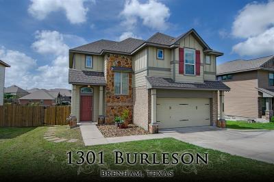 Washington County Single Family Home Pending Continue to Show: 1301 Burleson Street
