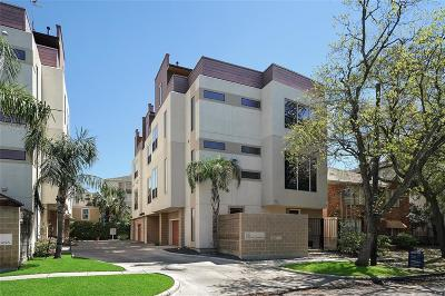 Houston Condo/Townhouse For Sale: 2107 Woodhead Street