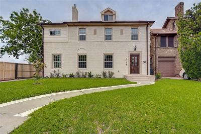 Houston Single Family Home For Sale: 2014 Wentworth Street