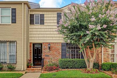Houston Condo/Townhouse For Sale: 679 N Post Oak Lane