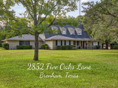 Single Family Home For Sale: 2852 Five Oaks Lane