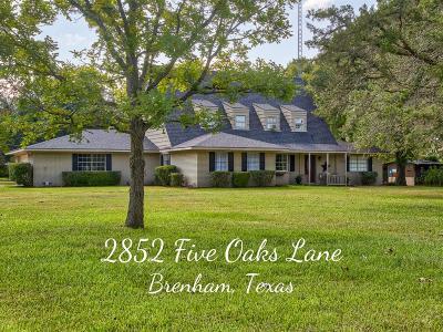 Washington County Single Family Home For Sale: 2852 Five Oaks Lane