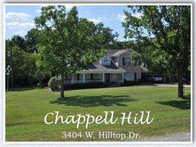 Chappell Hill Single Family Home For Sale: 3404 W Hilltop Drive