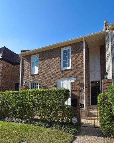 Houston Condo/Townhouse For Sale: 1940 Stoney Brook Drive