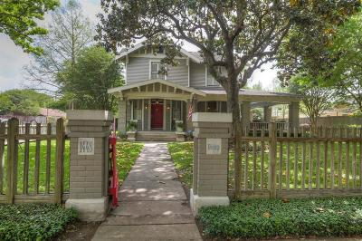 Houston Single Family Home For Sale: 1448 Heights Boulevard