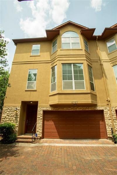 Galveston County, Harris County Condo/Townhouse For Sale: 5727 Kansas Street