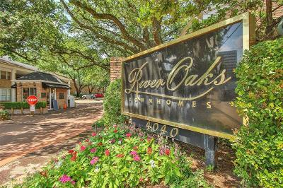 River Oaks Condo/Townhouse For Sale: 4040 San Felipe Street #109