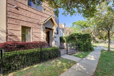 Houston Condo/Townhouse For Sale: 6833 Academy Street