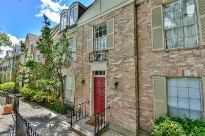 Houston Condo/Townhouse For Sale: 408 N Post Oak Lane #408