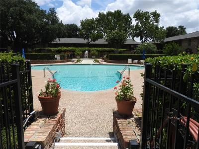 Houston Condo/Townhouse For Sale: 7600 Burgoyne Road #119
