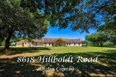 Austin County Country Home/Acreage For Sale: 8618 Hillboldt Road