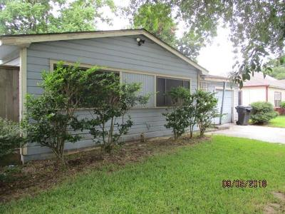 Houston TX Single Family Home For Sale: $64,900