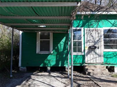 Houston Single Family Home For Sale: 2709 Alabama Street