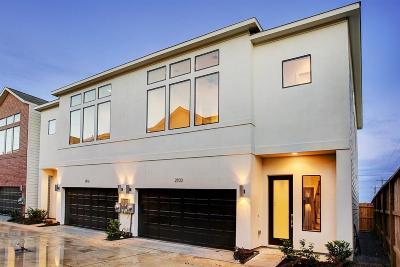 Houston Condo/Townhouse For Sale: 5209 Allen Street #B