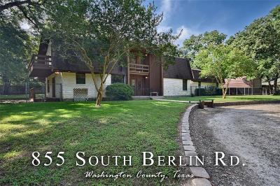 Washington County Single Family Home For Sale: 855 S Berlin Road