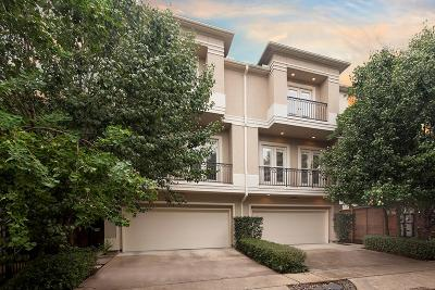 Houston Condo/Townhouse For Sale: 1209 Welch Street #B