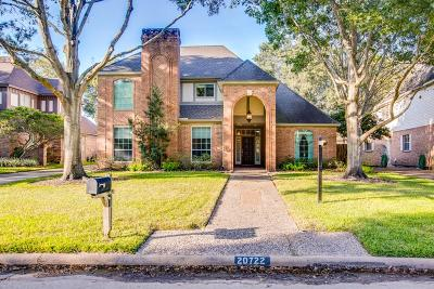 Katy Single Family Home For Sale: 20722 Castle Bend Drive