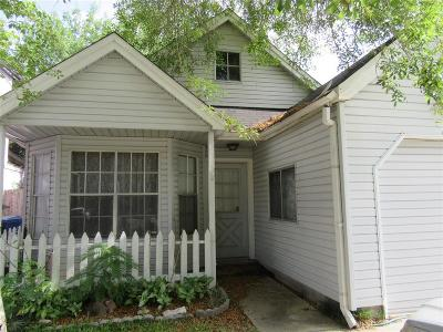 Katy TX Single Family Home For Sale: $100,000