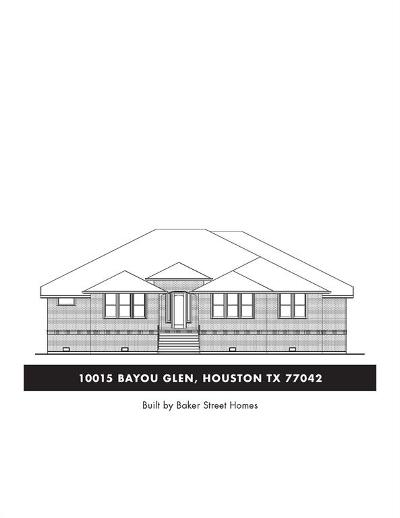 Briargrove Park Single Family Home For Sale: 10015 Bayou Glen Road
