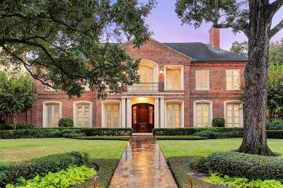 Houston TX Single Family Home For Sale: $2,750,000