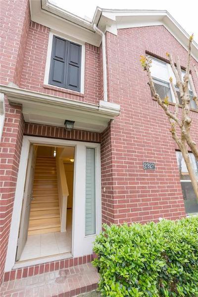 Houston Condo/Townhouse For Sale: 2927 W Dallas Street
