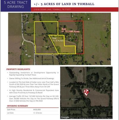 Tomball Country Home/Acreage For Sale: 21028 Cedar Lane